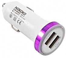 Автомобильный USB адаптер KO 7  Белый — зеленый -50 руб.