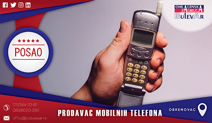 Beograd, Poslovi, Poslovi preko omladinske zadruge, Omladinska zadruga, Call centar, Mobilni Telefon, Mobilni, Telefon, Prodavac, Obrenovac