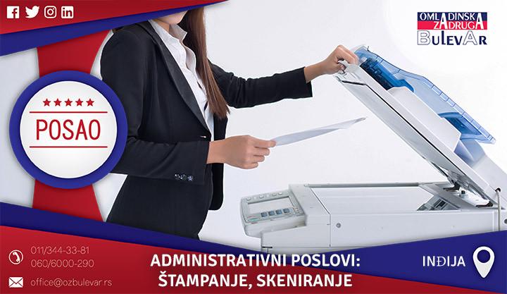 Poslovi preko omladinske zadruge, Omladinska zadruga, poslovi, administrativni poslovi, štampanje, skeniranje, fotokopiranje
