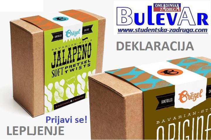 Oglasi za posao / poslovi preko omladinske zadruge BULEVAR, Lepljenje deklaracija , dobanovci- Beograd