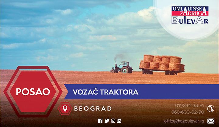 Oglas, Beograd, Traktor, Vozač
