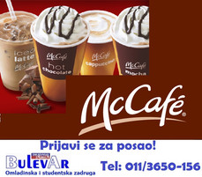 Devojke za rad u MC Cafe -  Beograd   preko omladinske zadruge