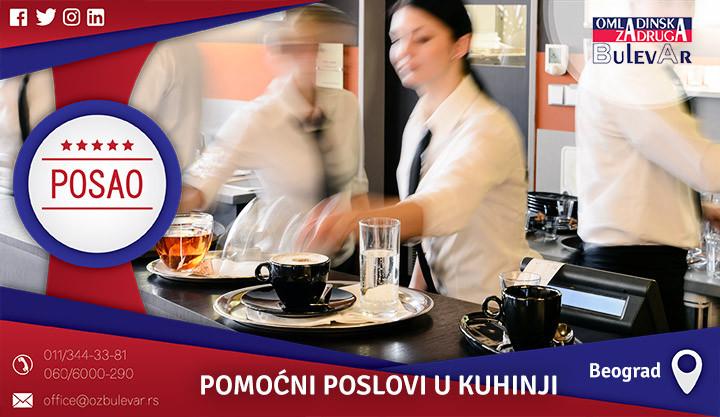 Poslovi preko omladinske zadruge, Omladinska zadruga, poslovi, kuhinja, pomoćni poslovi, pomoćni poslovi u kuhinji