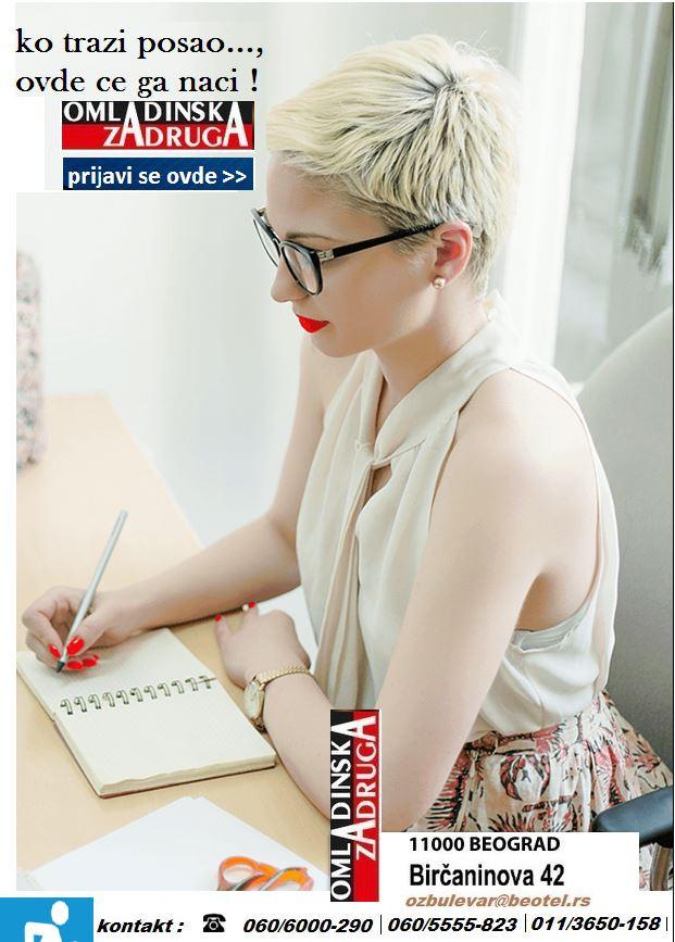 Oglasi za posao / poslovi preko omladinske zadruge BULEVAR, Operater u call centru, Beograd
