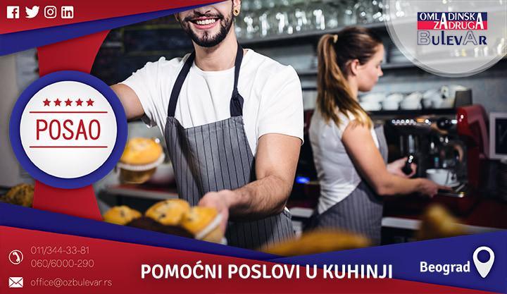Poslovi preko omladinske zadruge, Omladinska zadruga, Studentska,Restoran,Kuhinja, pomocni poslovi