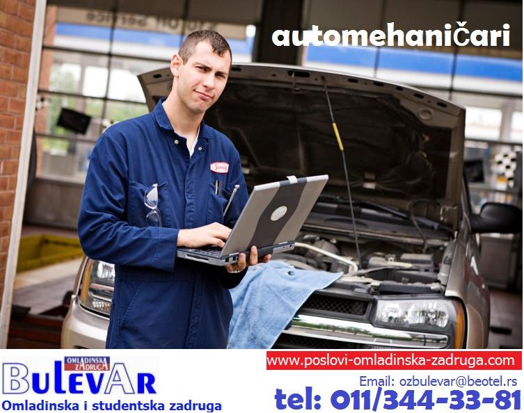 Posao: Automehanicari za rad u auto-servisu, Beograd,  preko omladinske zadruge BULEVAR