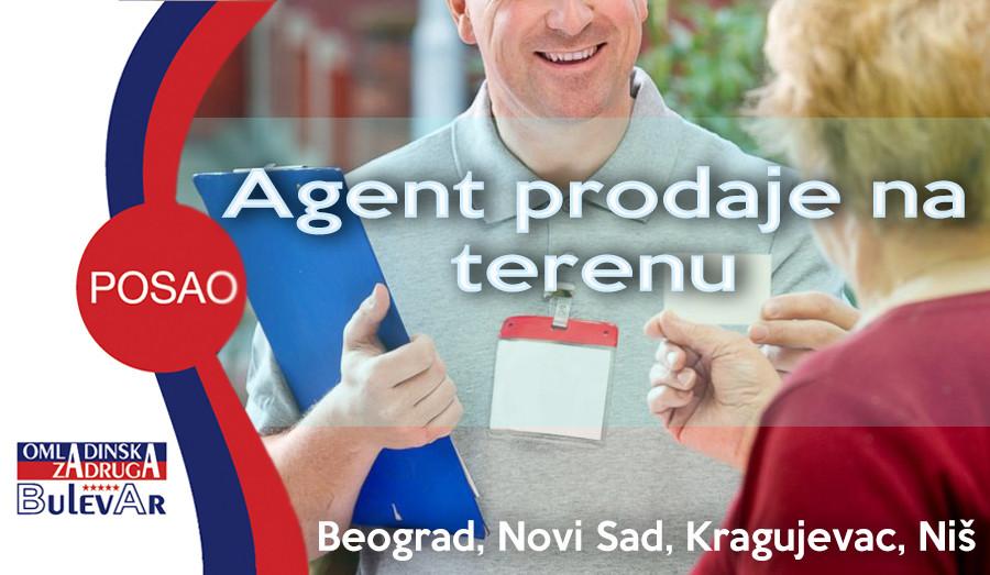agent prodaje na terenu, poslovi beograd, omladinska zadruga bulevar