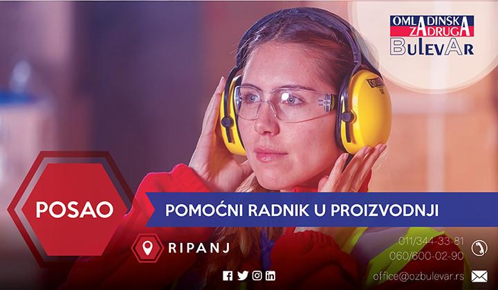 Oglas, Beograd, Radnik, Ripanj