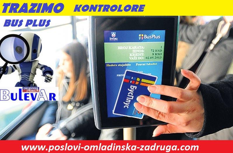 Oglasi za posao / poslovi preko omladinske zadruge BULEVAR, Bus plus kontrolori preko zadruge, Beograd