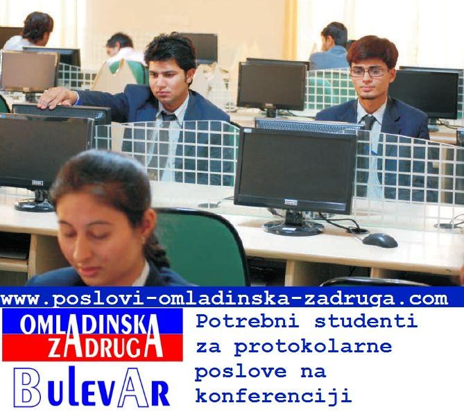 Omladinska I STUDENTSKA zadruga Bulevar,  studenti za tehnicko administrativne poslove na sajmu i konferenciji, engleski jezik preko zadruge Beograd