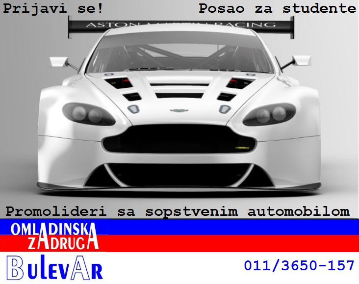 Omladinska I STUDENTSKA zadruga Bulevar, Promolideri sa sopstvenim automobilom, studenti  Beograd