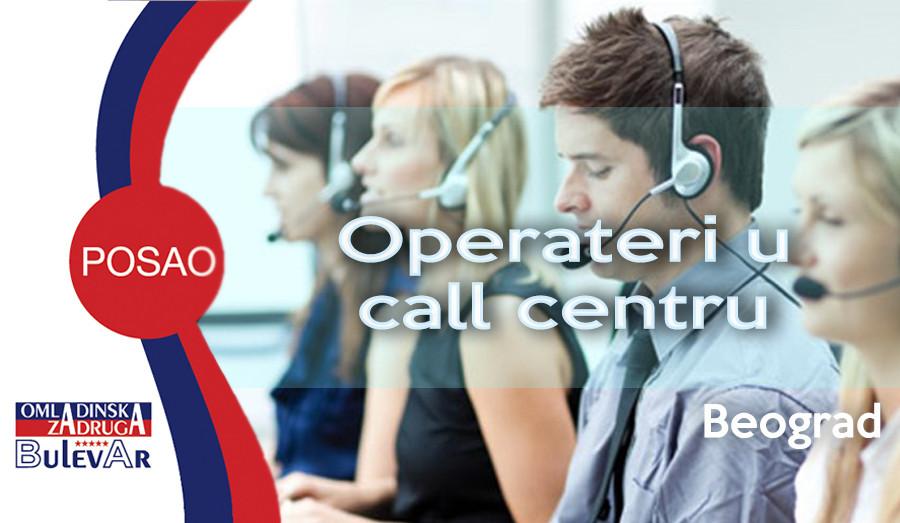 call centar, operaterski poslovi, omladinska zadruga bulevar