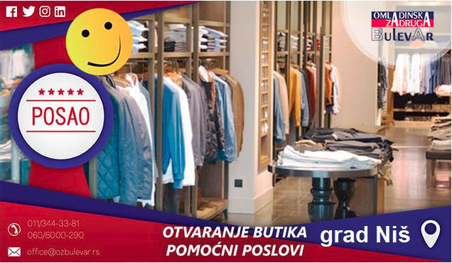 Beograd, Poslovi preko omladinske zadruge, Omladinska zadruga, Butik, rad u butiku, posao u butiku, butici