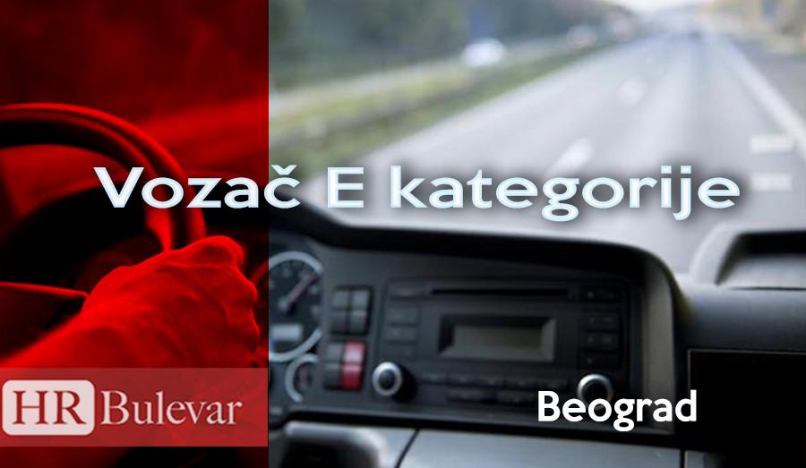vozac, E kategorija, poslovi beograd, omladinska zadruga bulevar