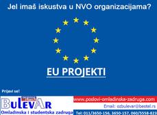 Potrebni saradnici na EU projektima u NVO sektoru | studenti do 26 godina