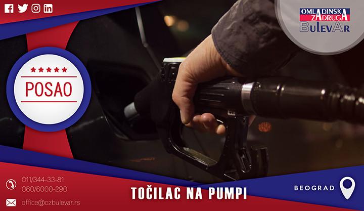Beograd, Poslovi, Poslovi preko omladinske zadruge, Točilac na pumpi, benzinska pumpa, pumpa, točilac