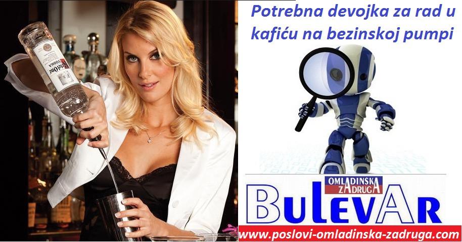 Oglasi za posao / poslovi preko omladinske zadruge BULEVAR, Konobari sankeri, za kafic devojka, Beograd