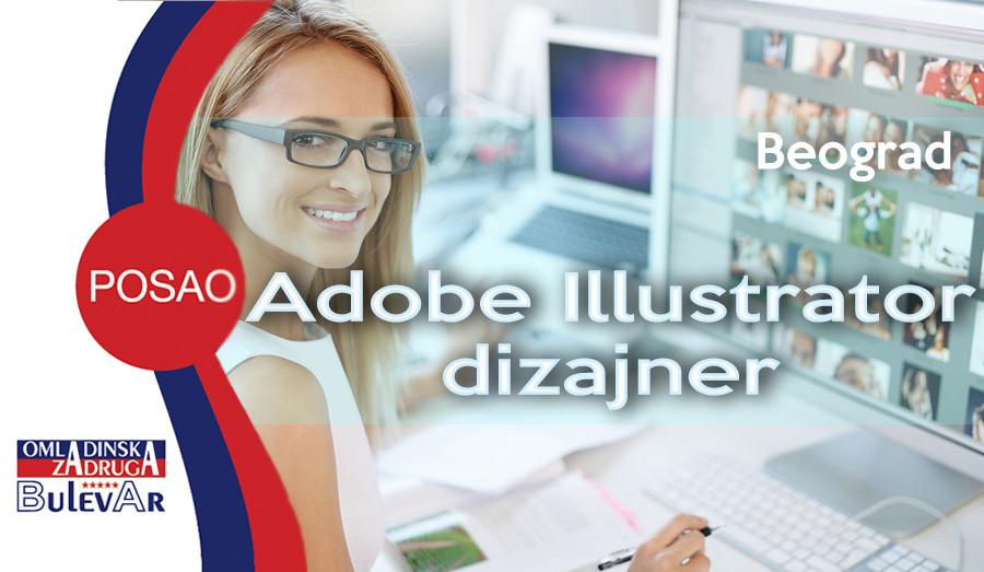 adobe illustrator, dizajner, photoshop, omladinska zadruga bulevar, poslovi beograd