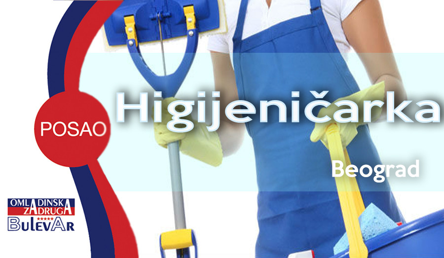 higijenicarka, poslovi beograd, omladinska zadruga bulevar