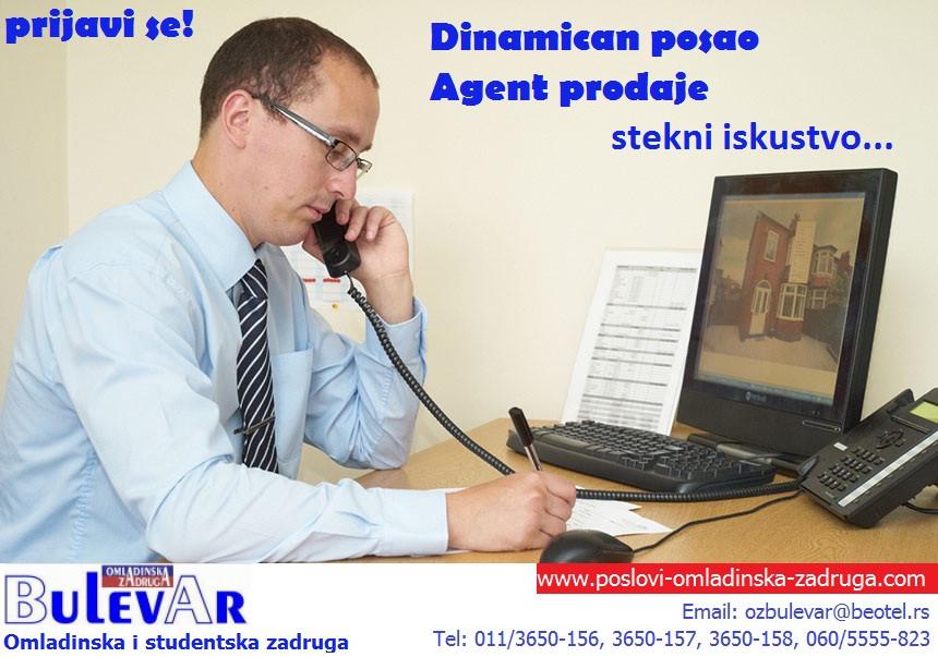 Poslovi preko omladinske zadruge, oglasi za posao BULEVAR zadruga - , agent prodaje, prodavacBeograd