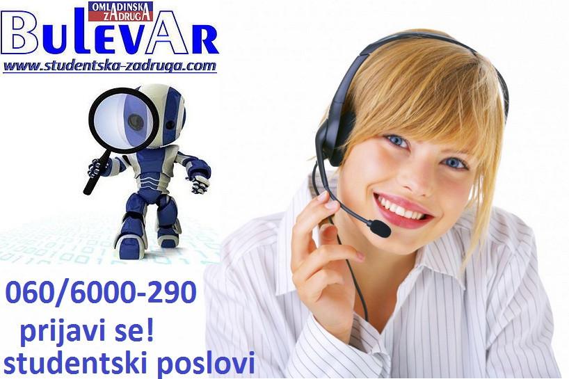 Oglasi za posao / poslovi preko omladinske zadruge BULEVAR, Operaterski poslovi, Beograd