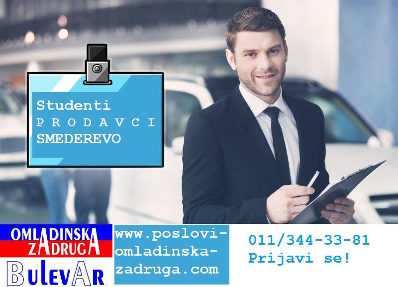Omladinska I STUDENTSKA zadruga Bulevar, agent prodaje na terenu - Kraljevo, angazovanje preko zadruge