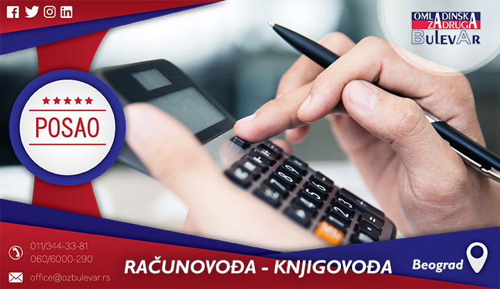 Poslovi preko omladinske zadruge, Omladinska zadruga, poslovi, računovođa, knjigovođa