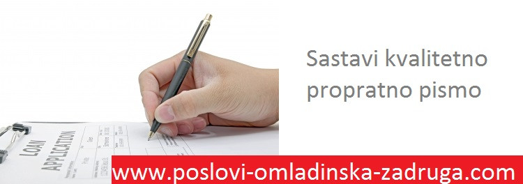 KKako napisati propratno pismo - Omladinska i studentska zadruga BULEVAR, Beograd