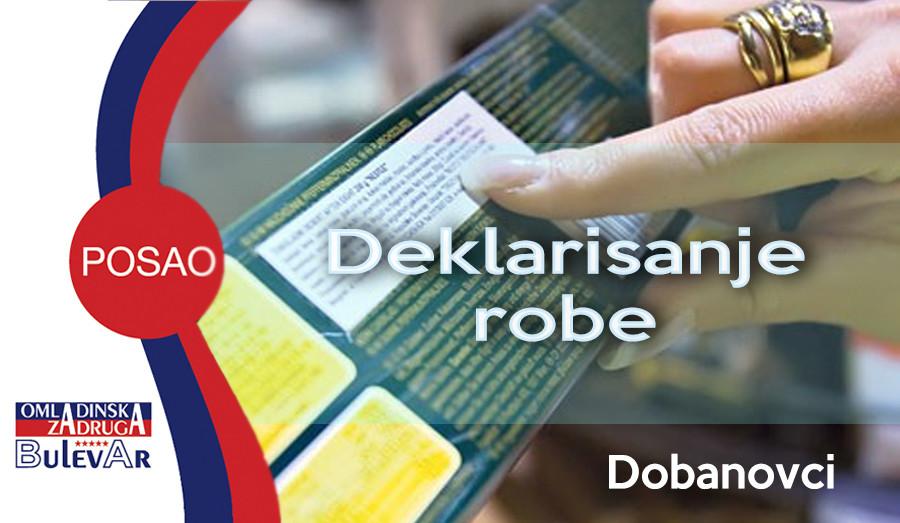 Oglas, Dobanovci, Deklaracija, lepljenje, deklarisanje