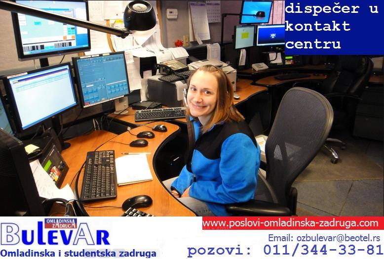 Omladinska I STUDENTSKA zadruga Bulevar, dispecer u kontakt centru , nemacki jezik, angazovanje preko zadruge
