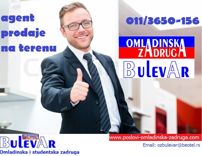 Omladinska I STUDENTSKA zadruga Bulevar, agent prodaje na terenu, telefonista
