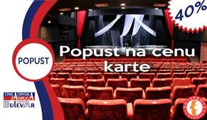 Pozorište Slavija-40% popusta na cenu pozorišne karte