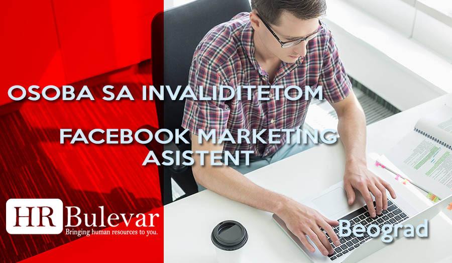 HR Bulevar, Poslovi Bulevar,Beograd, FACEBOOK MARKETING ASISTENT