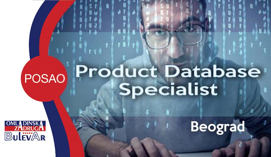 database, product, specialist, poslovi beograd, omladinska zadruga bulevar, excell, ms office