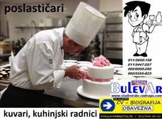 Poslasticari, kuhinjski radnici i kuvari za poslasticarnicu u Beogradu