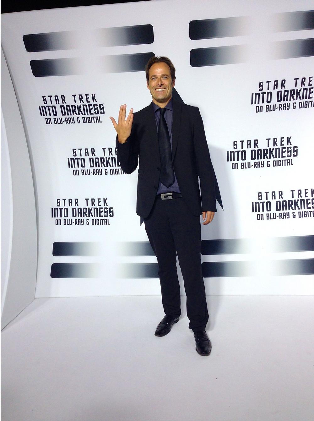 """Alex von Roon working #StarTrek """"Into Darkness"""" Premiere (Paramount, Blu-Ray & Digital). Directed by JJ Abrams."""