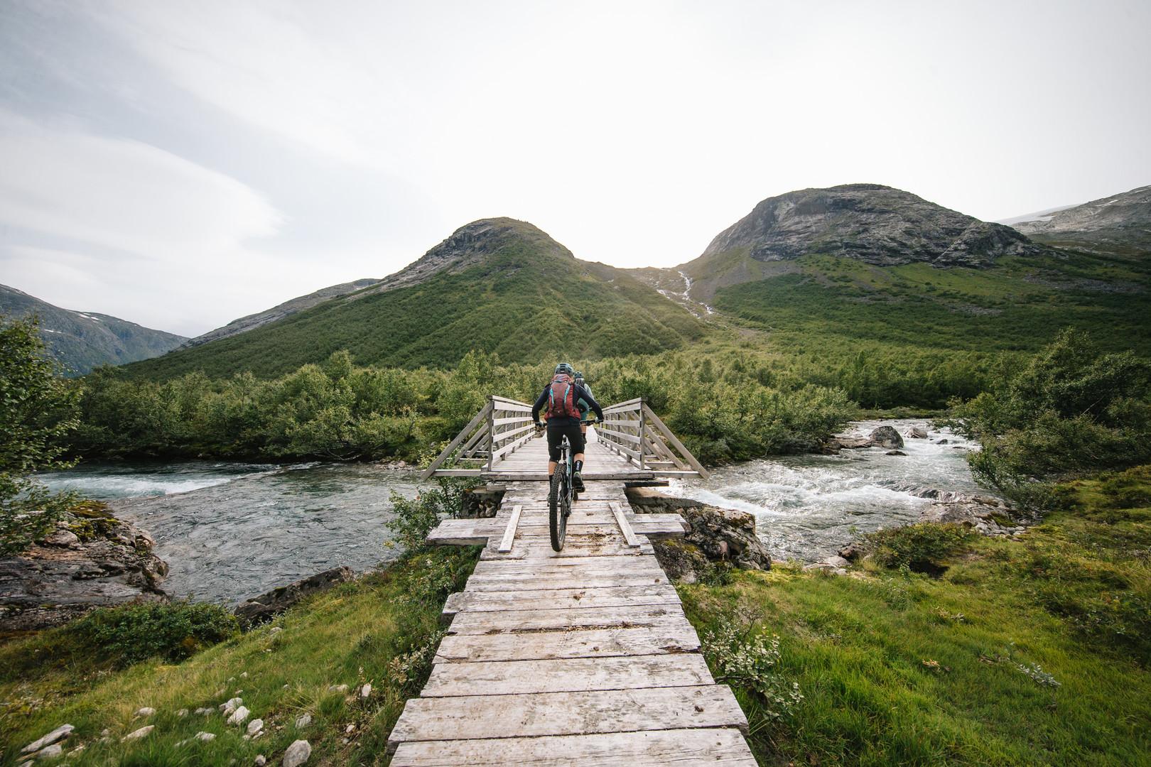 Tina Gerber exploring Norway