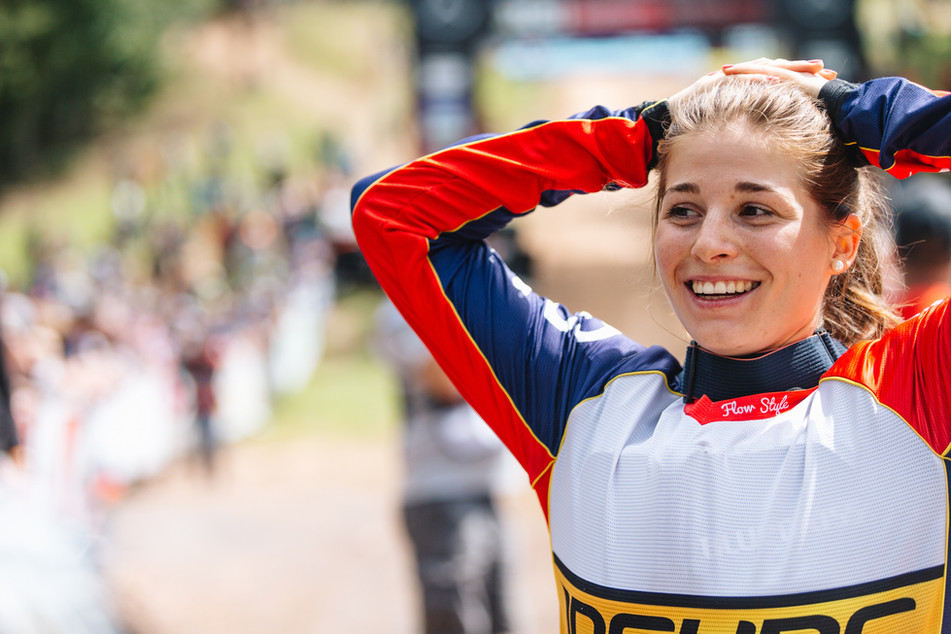 Vero Widmann at Fort William World Cup