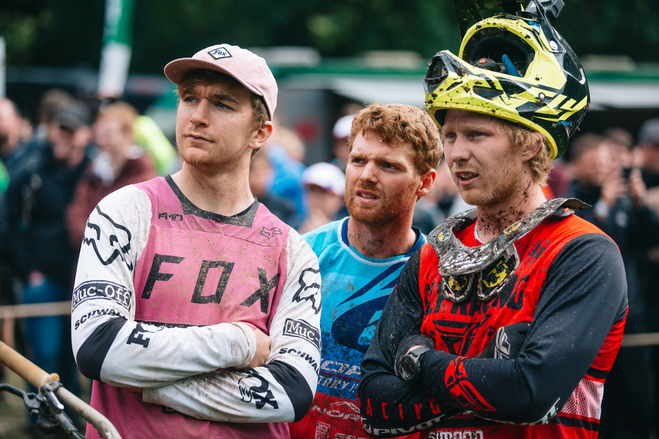 Kaos Seagrave, Joe Smith and Bernasrd Kerr at RedBull Hardline