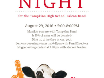 Spirit Night at Chick-fil-A