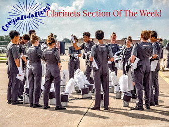 Section of the week...Clarinets!