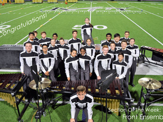 Section of the Week: Front Ensemble!
