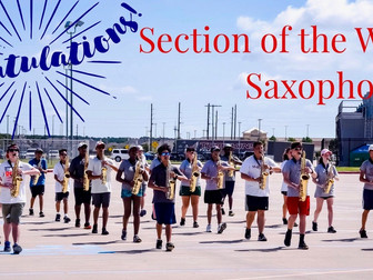 Section of the week...Saxophones!