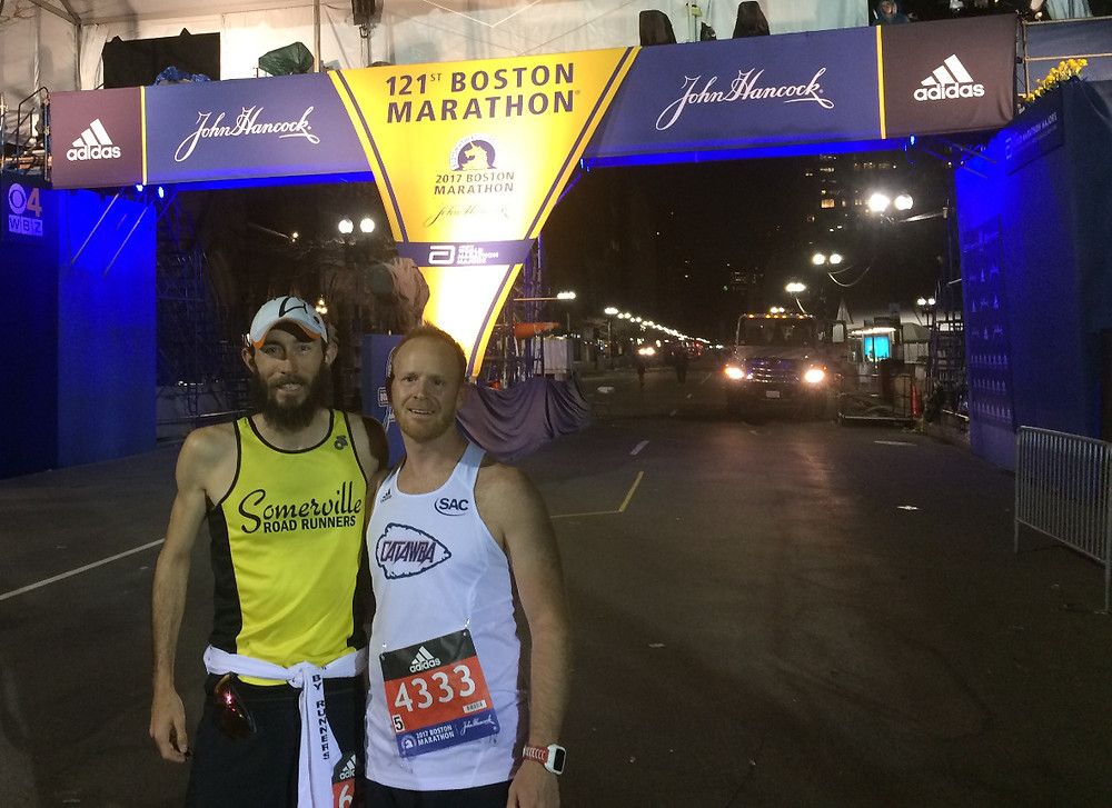 5am at the finish line of the 2017 Boston Marathon