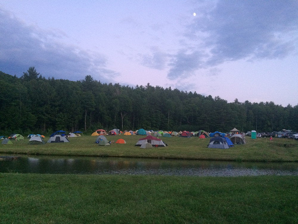 View of runner camping area
