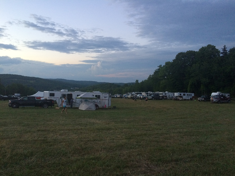 View of horse camping area