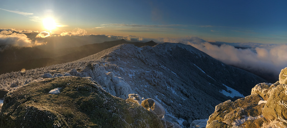 Franconia Ridge Trail at sunrise