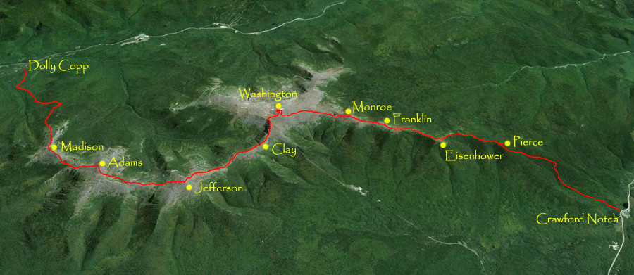 Presidential Traverse Route