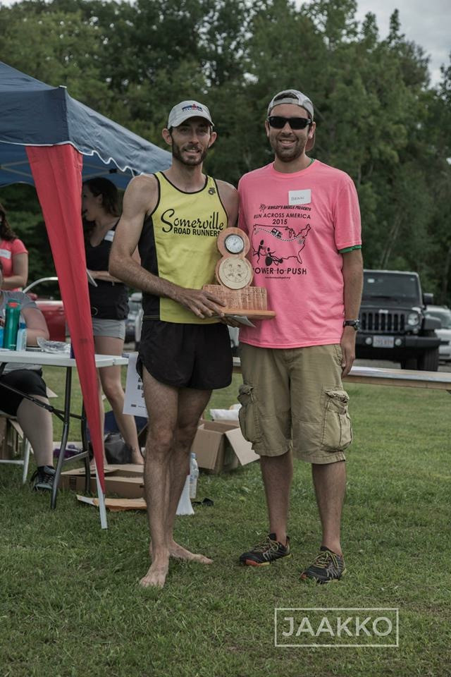 Receiving the 1st place overall trophy