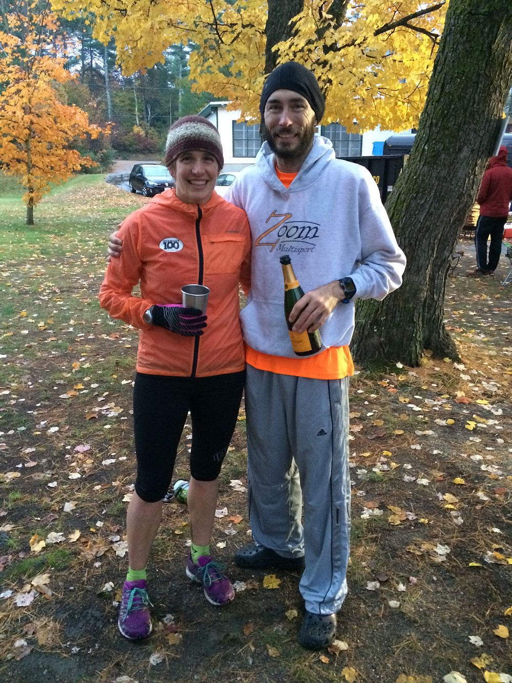 Post race with Coach Amy